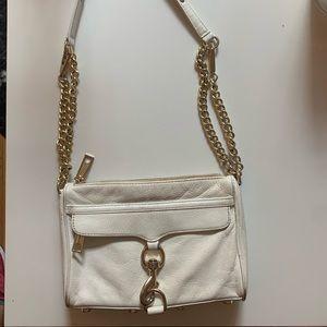 Rebecca minkoff white mini Mac bag
